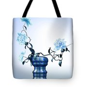Math Flowers In Blue 1 Tote Bag by GuoJun Pan