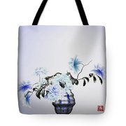 Math Flowers In Blue 2 Tote Bag