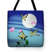 Math Peony And Butterfly Tote Bag