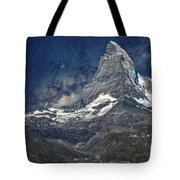 Matterhorn In Starry Night Tote Bag