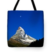 Matterhorn Under Moon Tote Bag