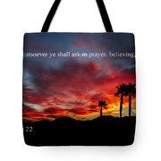 Matthew 21 Tote Bag