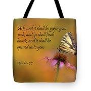 Matthew 7 7 Tote Bag