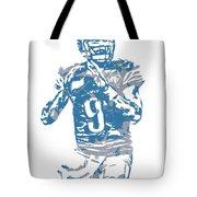Matthew Stafford Detroit Lions Pixel Art 5 Tote Bag