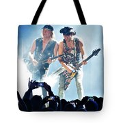 Matthias Jabs And Rudolf Schenker Shredding Tote Bag