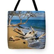 Maui Beach Dirftwood Fine Art Photography Print Tote Bag