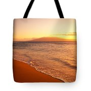 Maui, Hazy Orange Sunset Tote Bag