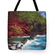 Maui Red Sand Beach Tote Bag by Inge Johnsson
