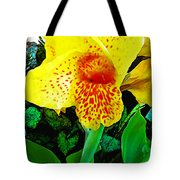 Maui Yellow Floral Tote Bag