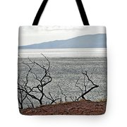 Maui's View Of Lanai Tote Bag