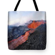 Mauna Loa Eruption Tote Bag by Joe Carini - Printscapes