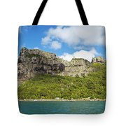 Maupiti Island Cliff Tote Bag