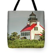 Maurice River, New Jersey, East Pointe  Lighthouse Tote Bag