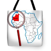 Mauritania Under A Magnifying Glass Tote Bag