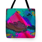 Mauve Abstract Tote Bag