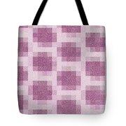 Mauve Plaid Pattern Tote Bag