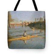 Max Schmitt In A Single Scull Tote Bag by Thomas Cowperthwait Eakins