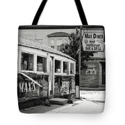 Max's Diner New Jersey Black And White Tote Bag