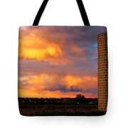 May Day Silo Sunset Tote Bag