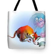 May I Touch You Tote Bag