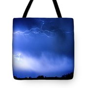 May Showers Two In Color - Lightning Thunderstorm 5-10-2011 Tote Bag