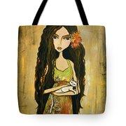 Maya And The Cat Tote Bag