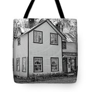 Mayors House Black And White Tote Bag