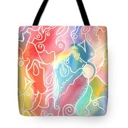 Maze Of Faces Tote Bag by Carolyn Weir