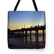 Mb Pier Sunset Tote Bag