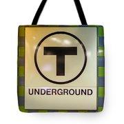 Mbta Underground Tote Bag