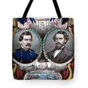 Mcclellan And Pendleton Campaign Poster Tote Bag