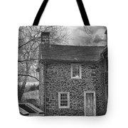 Mcconkey Ferry Inn Black And White Tote Bag