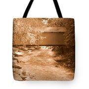 Mcconnells Mill Covered Bridge Sepia Tote Bag