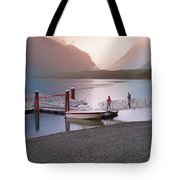 Mcdonald Lake At Dusk Tote Bag
