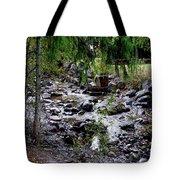 Mcdonald Lake Stream Tote Bag