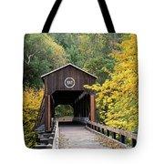 Mckee Bridge In Fall Tote Bag