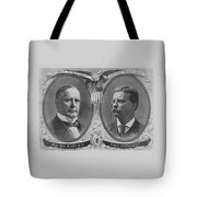Mckinley And Roosevelt Election Poster Tote Bag