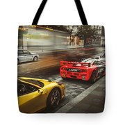 Mclaren F1 Gtr With Speciale And Integrale And 918 Tote Bag