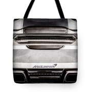 Mclaren Mp4 12c Rear View -0668ac Tote Bag