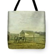 Mcpherson Barn And Cannon Gettysburg  Tote Bag