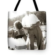 Me And Dad On The Mountain Tote Bag