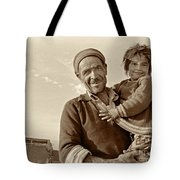 Me And Grandpa, Iran  Tote Bag