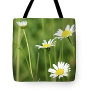Meadow Detail White Wild Flowers Tote Bag
