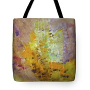 Meadow Flowers Abstract Tote Bag