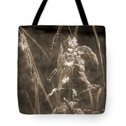 Meadow Grass In Sepia Tote Bag