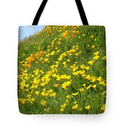 Meadow Hillside Poppy Flowers 8 Poppies Artwork Gifts Tote Bag