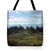 Meadow Mountain View Tote Bag