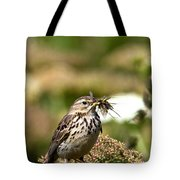 Meadow Pipit With Food Tote Bag