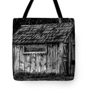 Meadow Shelter - Bw Tote Bag