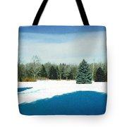 Meadow Snow Tote Bag
